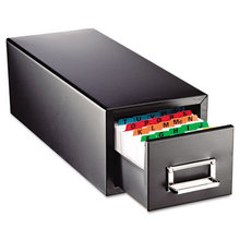 Drawer Card Cabinet Holds 1,500 5 x 8 cards, 9 7/16 x 16 x 7 1/2