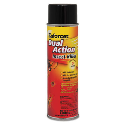 View larger image of Dual Action Insect Killer, For Flying/Crawling Insects, 17 oz Aerosol