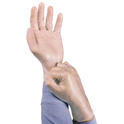 View larger image of Dura-Touch 5 mil PVC Disposable Gloves, Medium, Clear, 100/Box