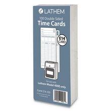 """E14-100 Time Cards, Bi-Weekly/Monthly/Semi-Monthly/Weekly, Two Sides, 7"""""""