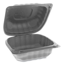 EarthChoice SmartLock Microwavable Hinged Lid Containers, 5.75 x 5.95 x 3.1, Black, 400/Carton