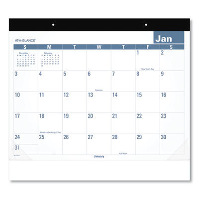 View larger image of Easy-to-Read Monthly Desk Pad, 22 x 17, Easy-to-Read, 2021