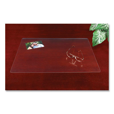 View larger image of Eco-Clear Desk Pad with Antimicrobial Protection, 17 x 22, Clear Polyurethane