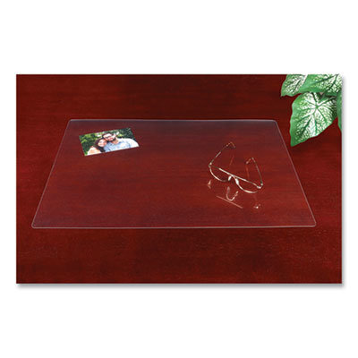 View larger image of Eco-Clear Desk Pad with Antimicrobial Protection, 19 x 24, Clear Polyurethane