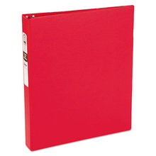 """Economy Non-View Binder with Round Rings, 3 Rings, 1"""" Capacity, 11 x 8.5, Red, (3310)"""