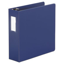 """Economy Non-View Round Ring Binder, 3 Rings, 3"""" Capacity, 11 x 8.5, Royal Blue"""