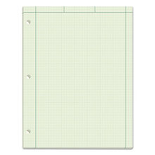 Engineering Computation Pads, 5 sq/in Quadrille Rule, 8.5 x 11, Green Tint, 100 Sheets