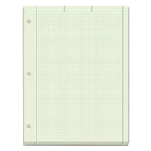 Engineering Computation Pads, 5 sq/in Quadrille Rule, 8.5 x 11, Green Tint, 200 Sheets