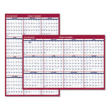 Erasable Vertical/Horizontal Wall Planner, 24 x 36, Blue/Red, 2021