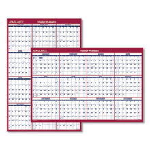 Erasable Vertical/Horizontal Wall Planner, 32 x 48, Blue/Red, 2021