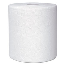 """Essential Plus Hard Roll Towels 8"""" x 600 ft, 1 3/4"""" Core dia, White, 6 Rolls/CT"""
