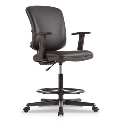 """View larger image of Everyday Task Stool, 31.38"""" Seat Height, Supports up to 275 lbs, Black Seat/Black Back, Black Base"""