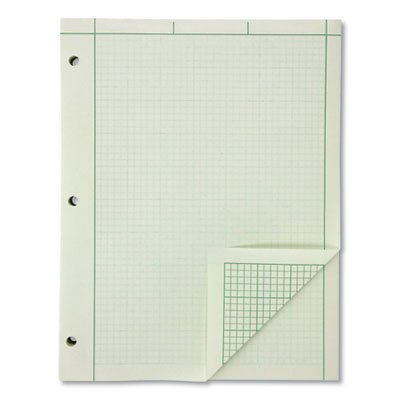 View larger image of Evidence Engineer's Computation Pad, 5 sq/in Quadrille Rule, 8.5 x 11, Green Tint, 200 Sheets/Pad