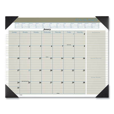 View larger image of Executive Monthly Desk Pad Calendar, 22 x 17, Buff, 2021