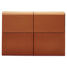 """Expanding Wallet, 3.5"""" Expansion, 1 Section, Tabloid Size, Brown"""