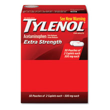 Extra Strength Caplets, Two-Pack, 50 Packs/Box