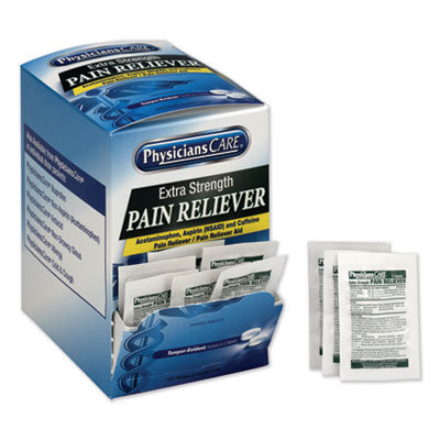 View larger image of Extra-Strength Pain Reliever, Two-Pack, 50 Packs/Box