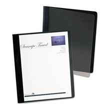 Extra-Wide Clear Front Report Covers, Letter Size, Black, 25/Box