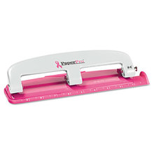 EZ Squeeze InCourage Three-Hole Punch, 12-Sheet Capacity, Pink