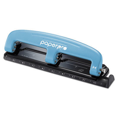 View larger image of EZ Squeeze Three-Hole Punch, 12-Sheet Capacity, Blue/Black