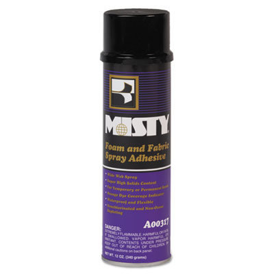 View larger image of Foam and Fabric Spray Adhesive, 12 oz, Dries Clear, 12/Carton