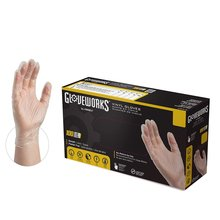Gloveworks Clear Vinyl Industrial Latex Free Disposable Gloves (IVPF)