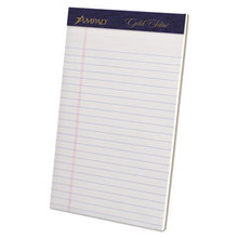 Gold Fibre Writing Pads, Narrow Rule, 5 x 8, White, 50 Sheets, 4/Pack