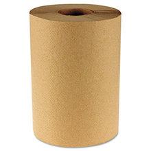 """Hardwound Paper Towels, 8"""" x 350ft, 1-Ply Natural, 12 Rolls/Carton"""