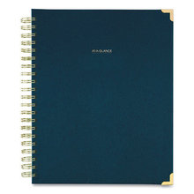 Harmony Weekly/Monthly Hardcover Planner, 11 x 8.5, Navy Blue, 2021