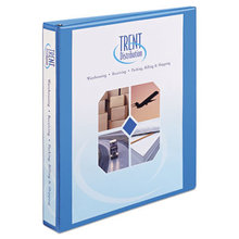 """Heavy-Duty Non Stick View Binder with DuraHinge and Slant Rings, 3 Rings, 1"""" Capacity, 11 x 8.5, Light Blue, (5301)"""