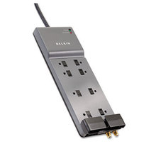 Home/Office Surge Protector, 8 Outlets, 6 ft Cord, 3550 Joules, Gray
