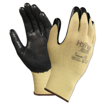 View larger image of HyFlex CR Gloves, Size 7, Yellow/Black, Kevlar/Nitrile, 24/Pack