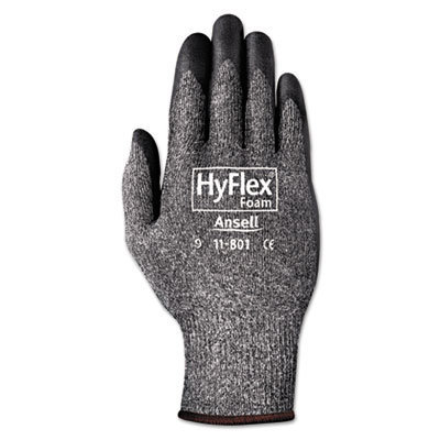 View larger image of HyFlex Foam Gloves, Dark Gray/Black, Size 10, 12 Pairs