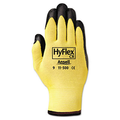 View larger image of HyFlex Ultra Lightweight Assembly Gloves, Black/Yellow, Size 10, 12 Pairs