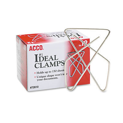 View larger image of Ideal Clamps, Large (No. 1), Silver, 12/Box