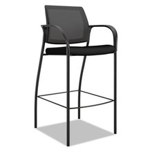 Ignition 2.0 Ilira-Stretch Mesh Back Cafe Height Stool, Supports up to 300 lbs., Black Seat/Black Back, Black Base