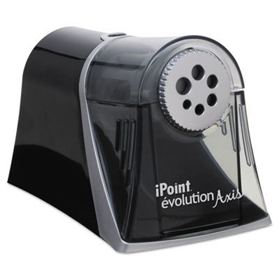 """View larger image of iPoint Evolution Axis Pencil Sharpener, AC-Powered, 5"""" x 7.5"""" x 7.25"""", Black/Silver"""