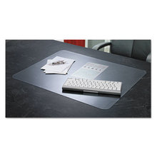 KrystalView Desk Pad with Antimicrobial Protection, 17 x 12, Matte Finish, Clear