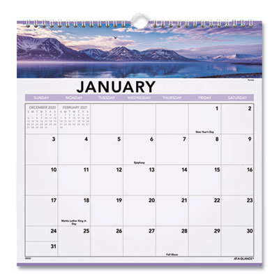 View larger image of Landscape Monthly Wall Calendar, 12 x 12, 2021