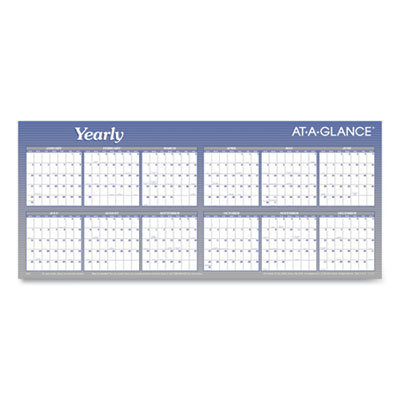 View larger image of Large Horizontal Erasable Wall Planner, 60 x 26, White/Blue, 2021