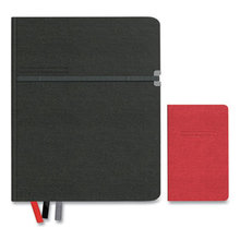 Large Mastery with Pocket Journal, Narrow Rule, Black/Red Cover, 8 x 10, 192 Sheets