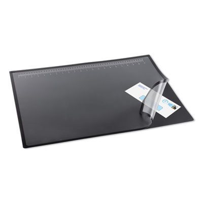 View larger image of Lift-Top Pad Desktop Organizer with Clear Overlay, 31 x 20, Black