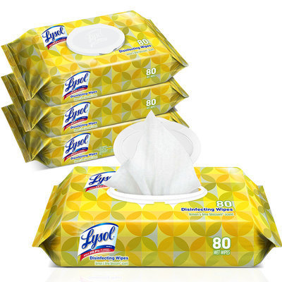 View larger image of Lysol Disinfecting Wipes Lemon & Lime Blossom Flatpack