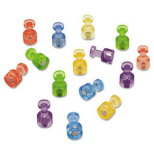 """Magnetic """"Push Pins"""", 3/4"""" dia, Assorted Colors, 20/Pack"""