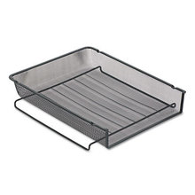 """Mesh Stackable Front Load Tray, 1 Section, Letter Size Files, 8.5"""" x 11"""", Black"""