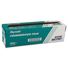 """Metro Light-Duty PVC Film Roll with Cutter Box, 18"""" x 2000 ft, Clear"""