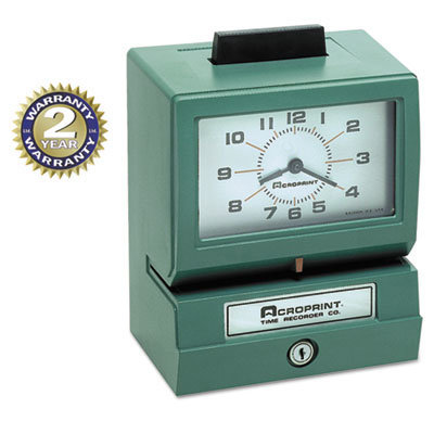 View larger image of Model 125 Analog Manual Print Time Clock with Month/Date/0-12 Hours/Minutes