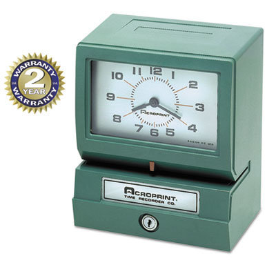 View larger image of Model 150 Analog Automatic Print Time Clock with Month/Date/0-23 Hours/Minutes