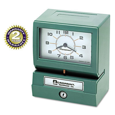View larger image of Model 150 Analog Automatic Print Time Clock with Month/Date/1-12 Hours/Minutes