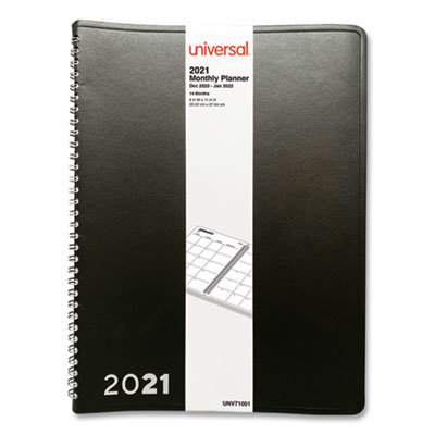 View larger image of Monthly Planner, 11 x 8, Black, 2021